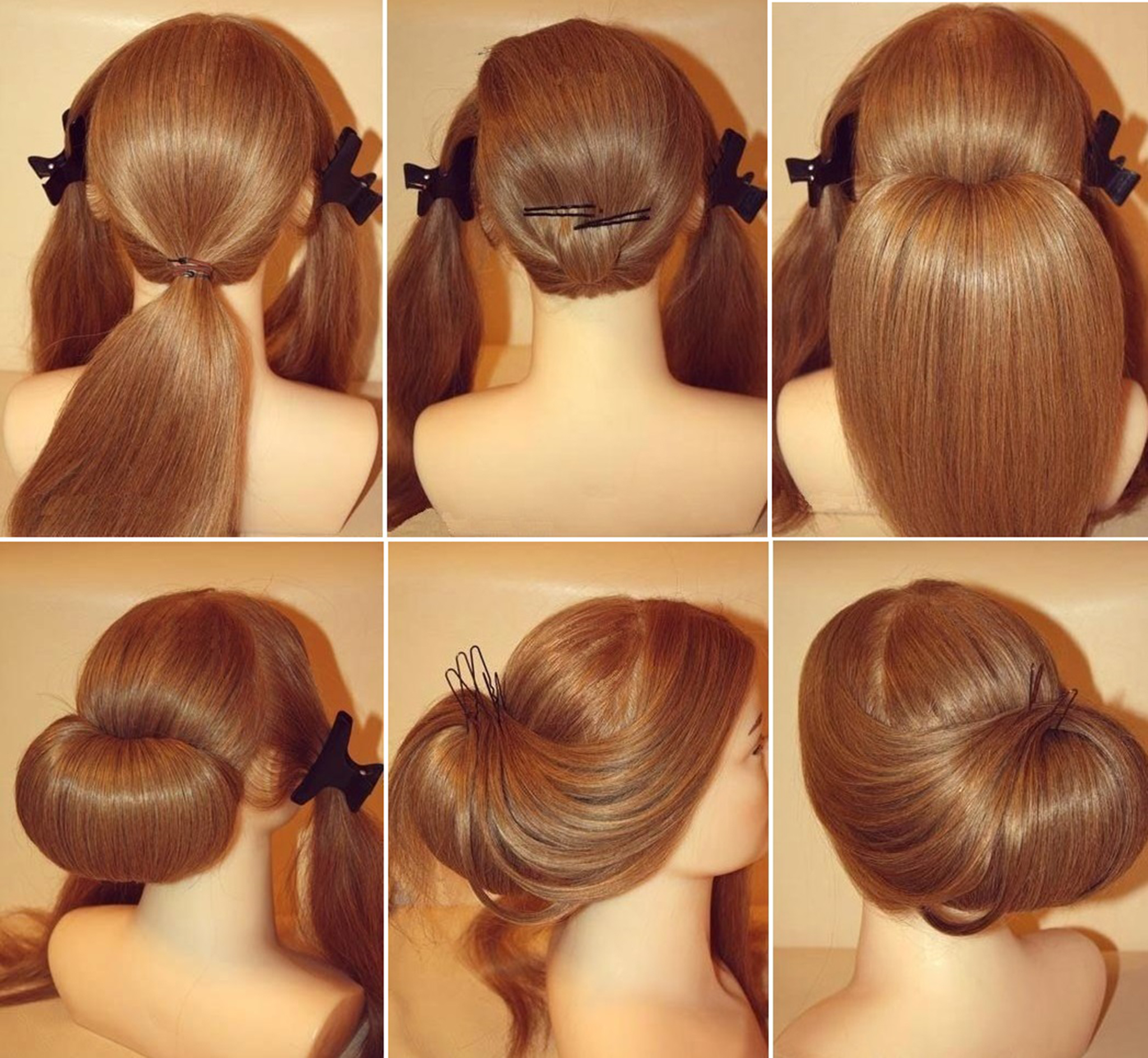 hair styling step by step 12 most beautiful hairstyles you will easy step by 6985