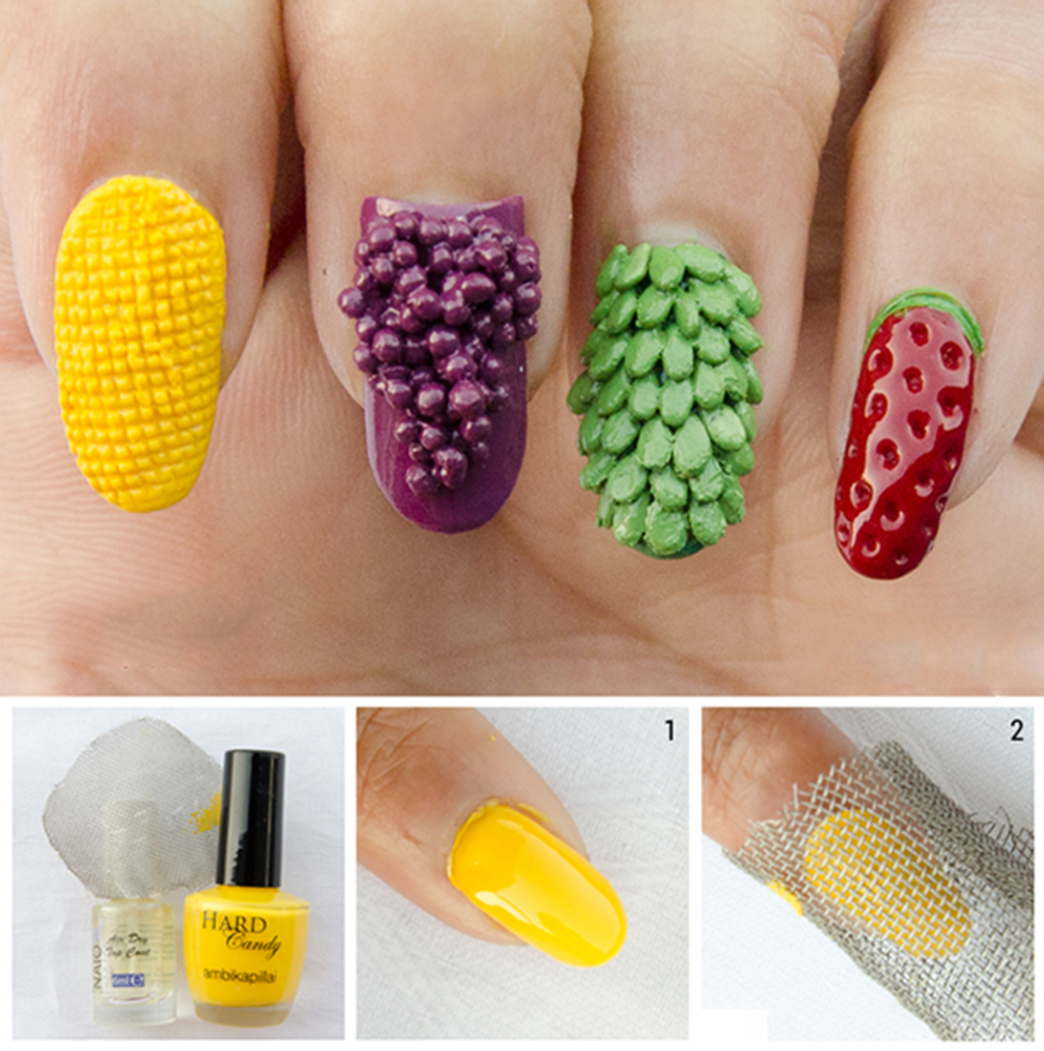 3d corn nail art design learn how to do it in a simple way 1 prinsesfo Images