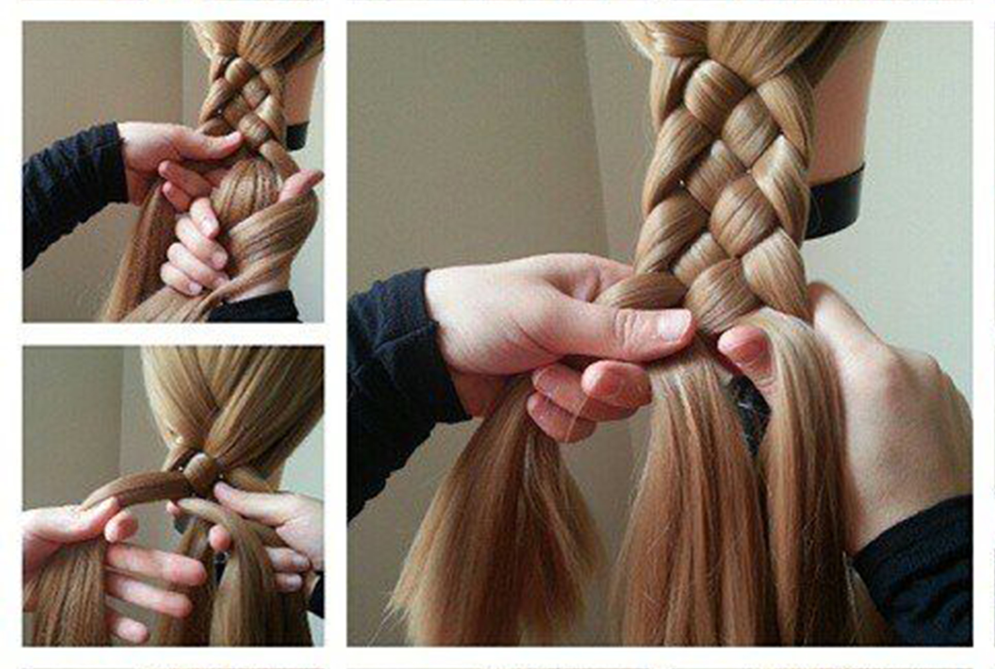 how to make side french braid step by step