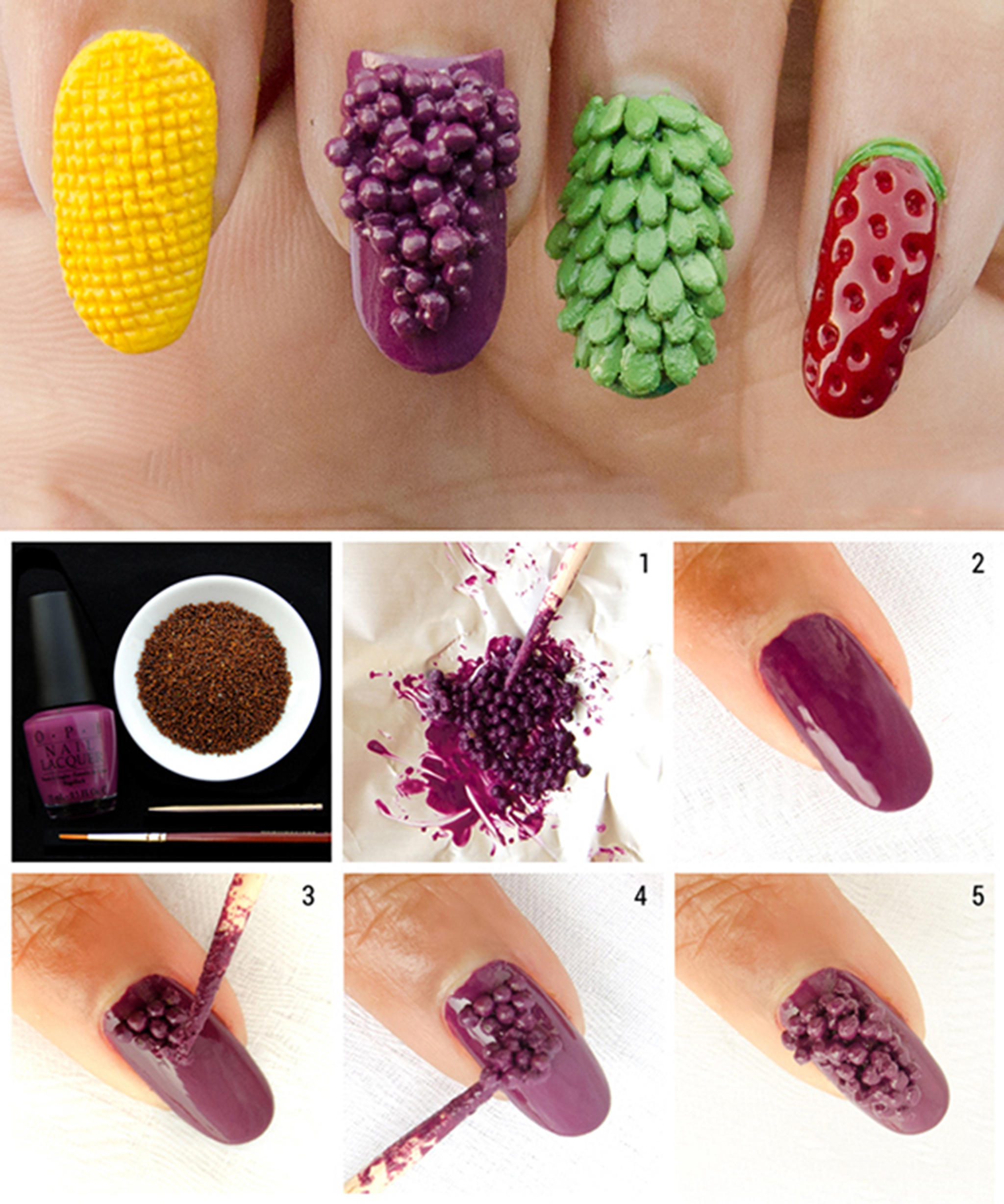 3d corn nail art design learn how to do it in a simple way 3 prinsesfo Images