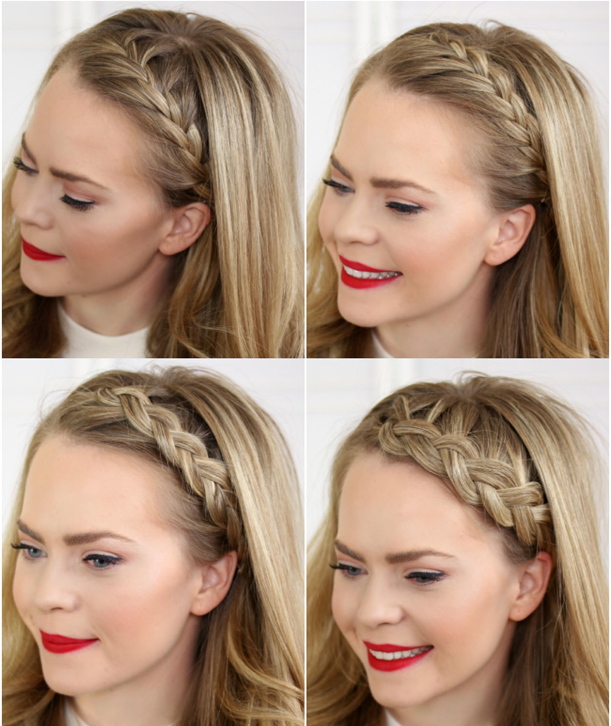 3. Headband Braid