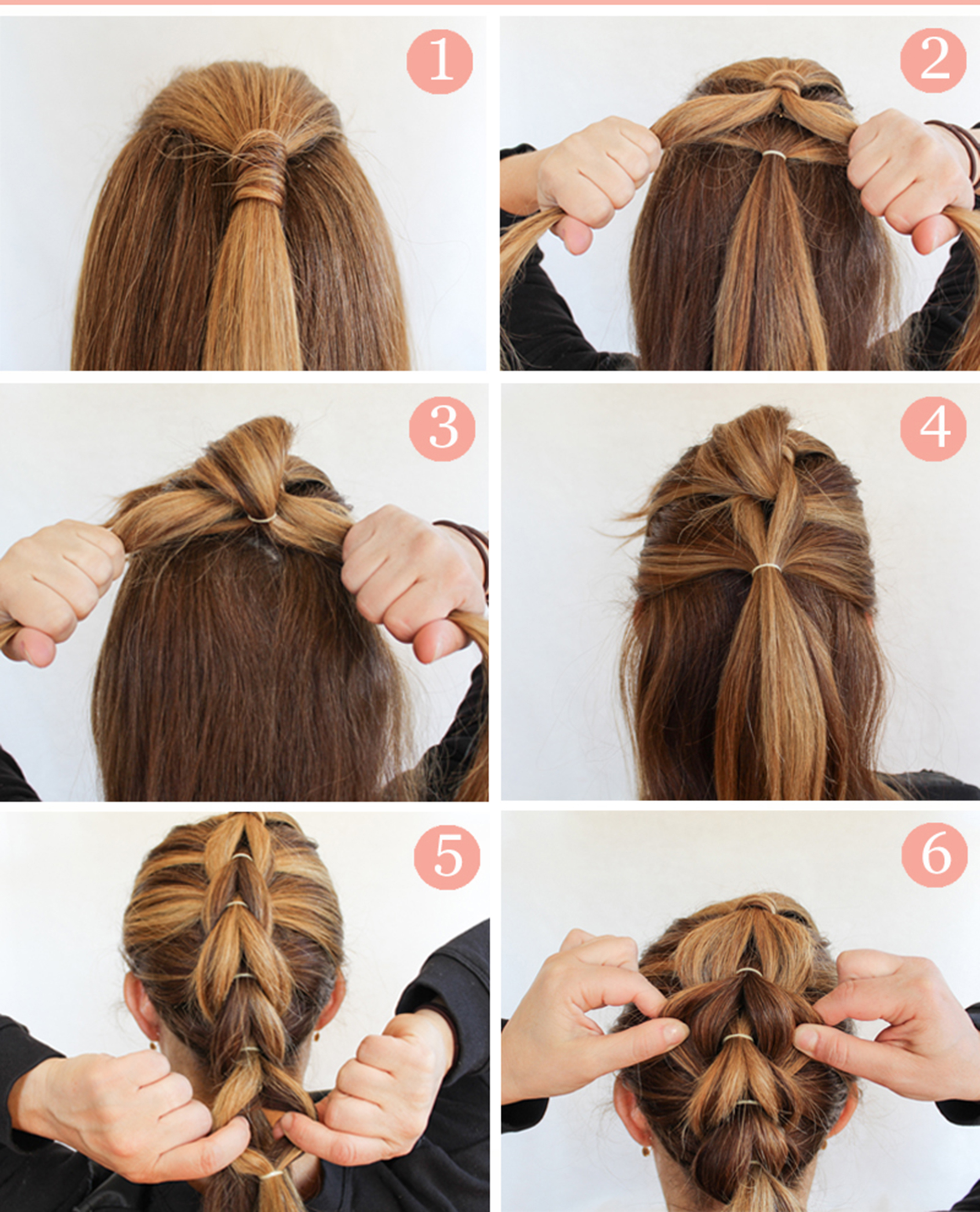 learn how to make fluffy braid hairstyle step by step