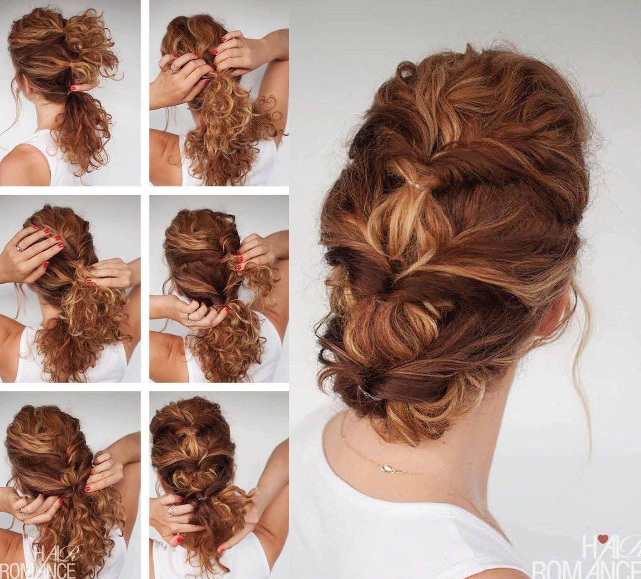 7 Easy Hairstyle Tutorials For Curly Hair