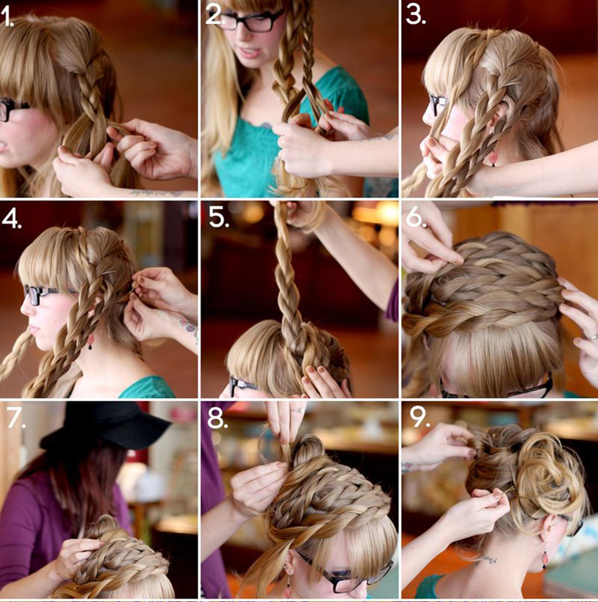 Схемы простых косичек для девочек