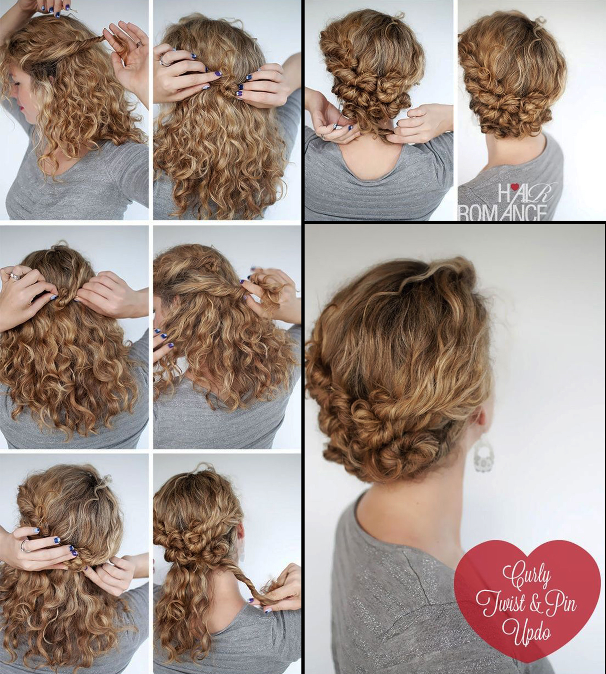 Easy Hairstyle Tutorial For Curly Hair Hairstyles