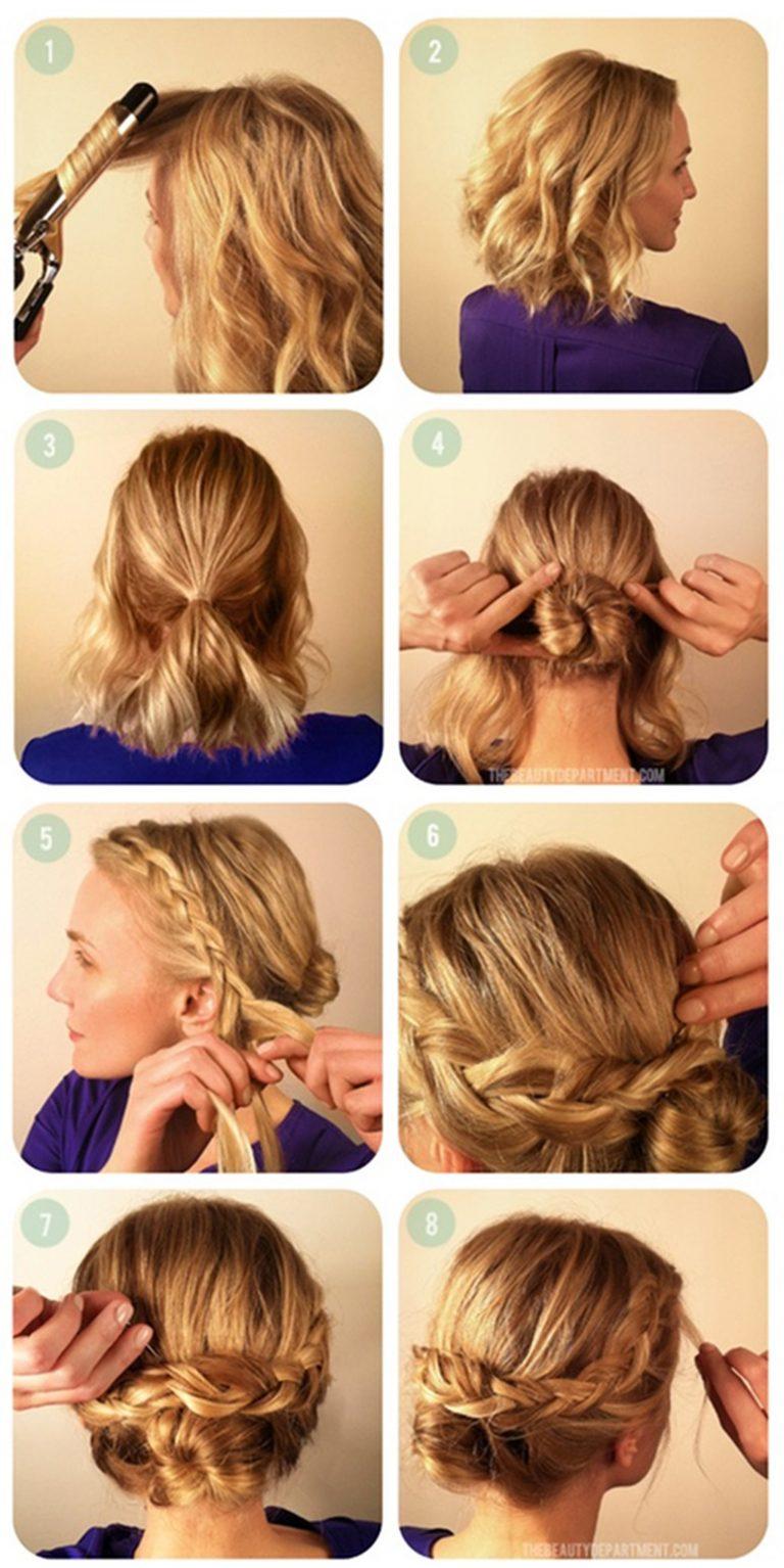 Прически на короткие волосы в домашних