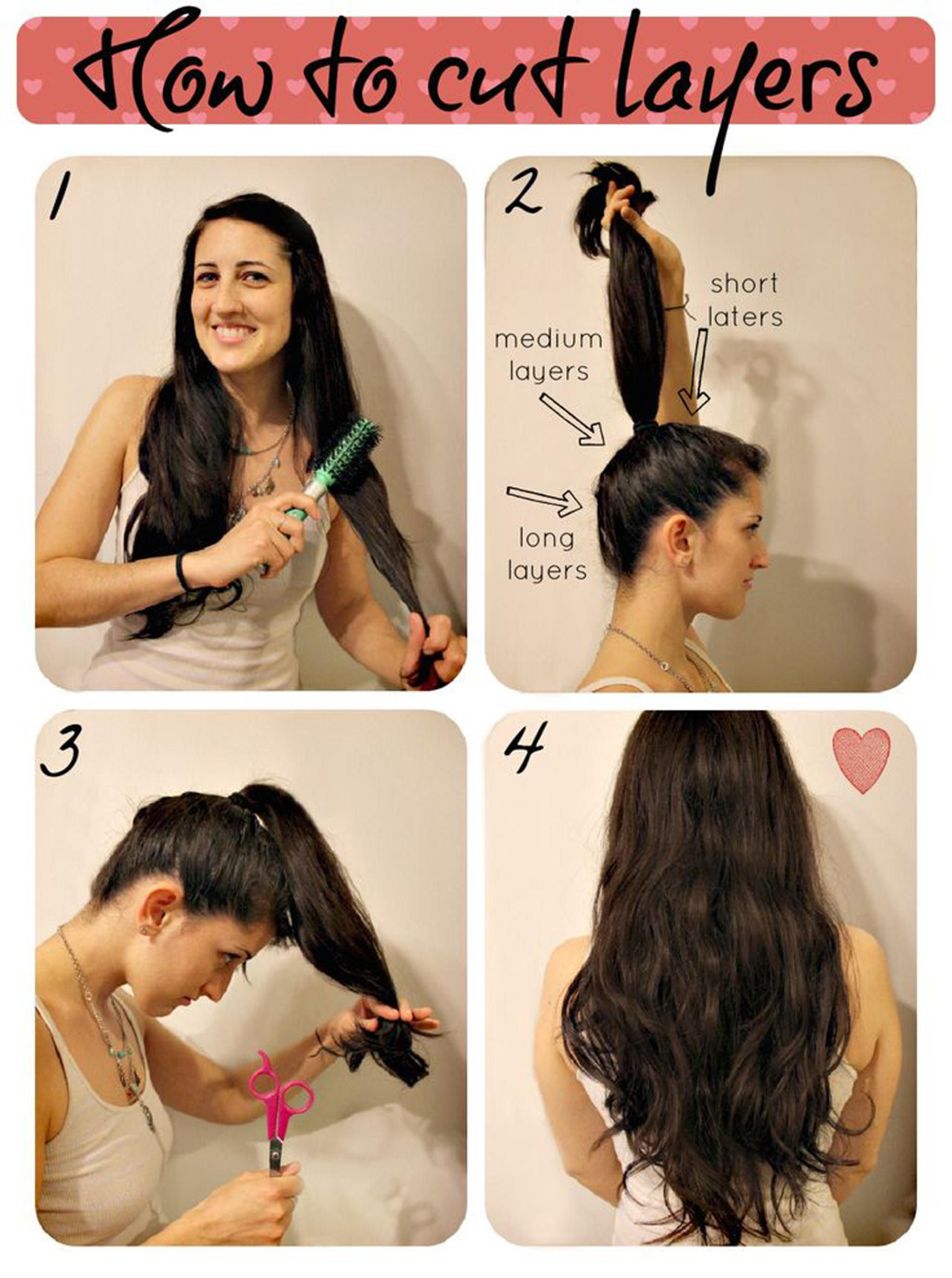 ways to get your haircut 5 easy ways to layer cut your own hair at home gymbuddy now 3876 | 1 3