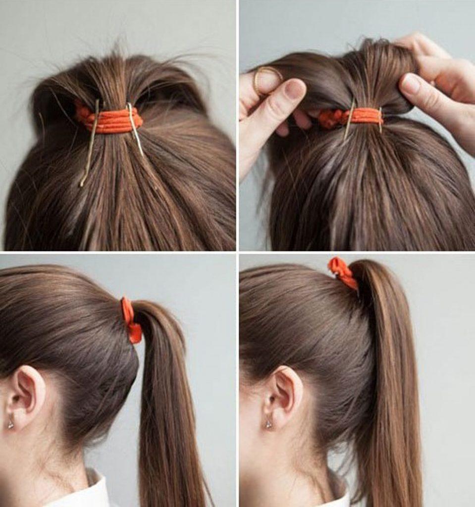 Как сделать объемный пучок на голове самостоятельно