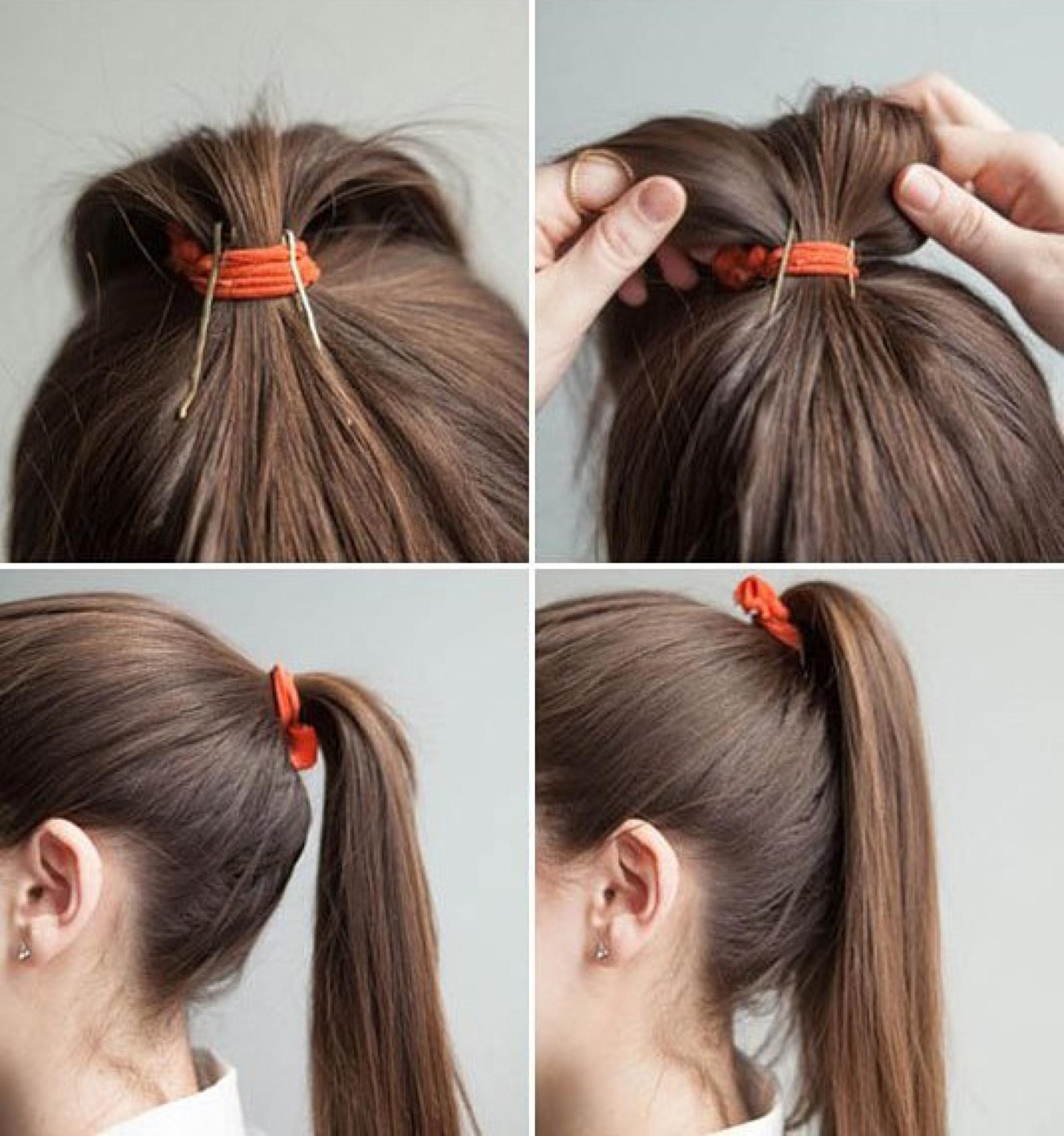 Как сделать хвост из волос средней длины