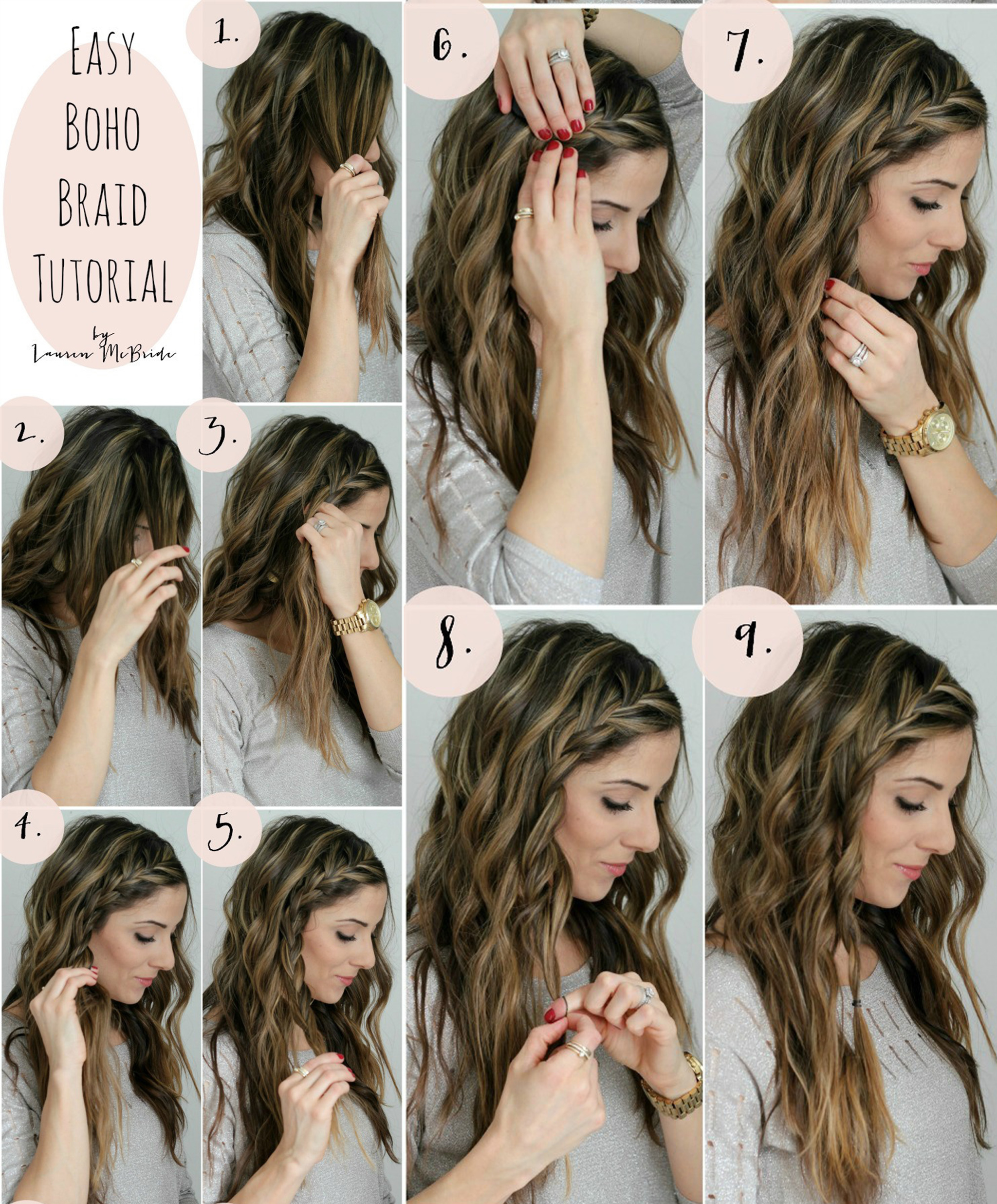 Top 10 Quick & Easy Braided Hairstyles Step By Step - Hairstyles Tutorials - Gymbuddy Now