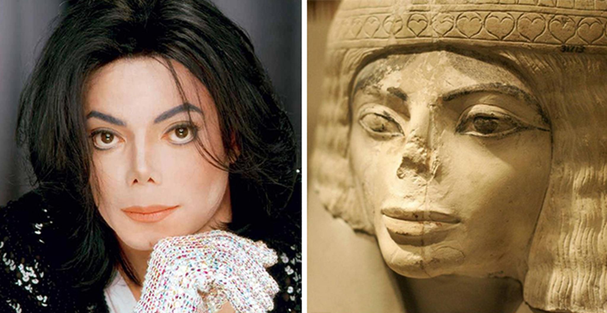 2 Michael Jackson Looks Like This Egyptian Statue