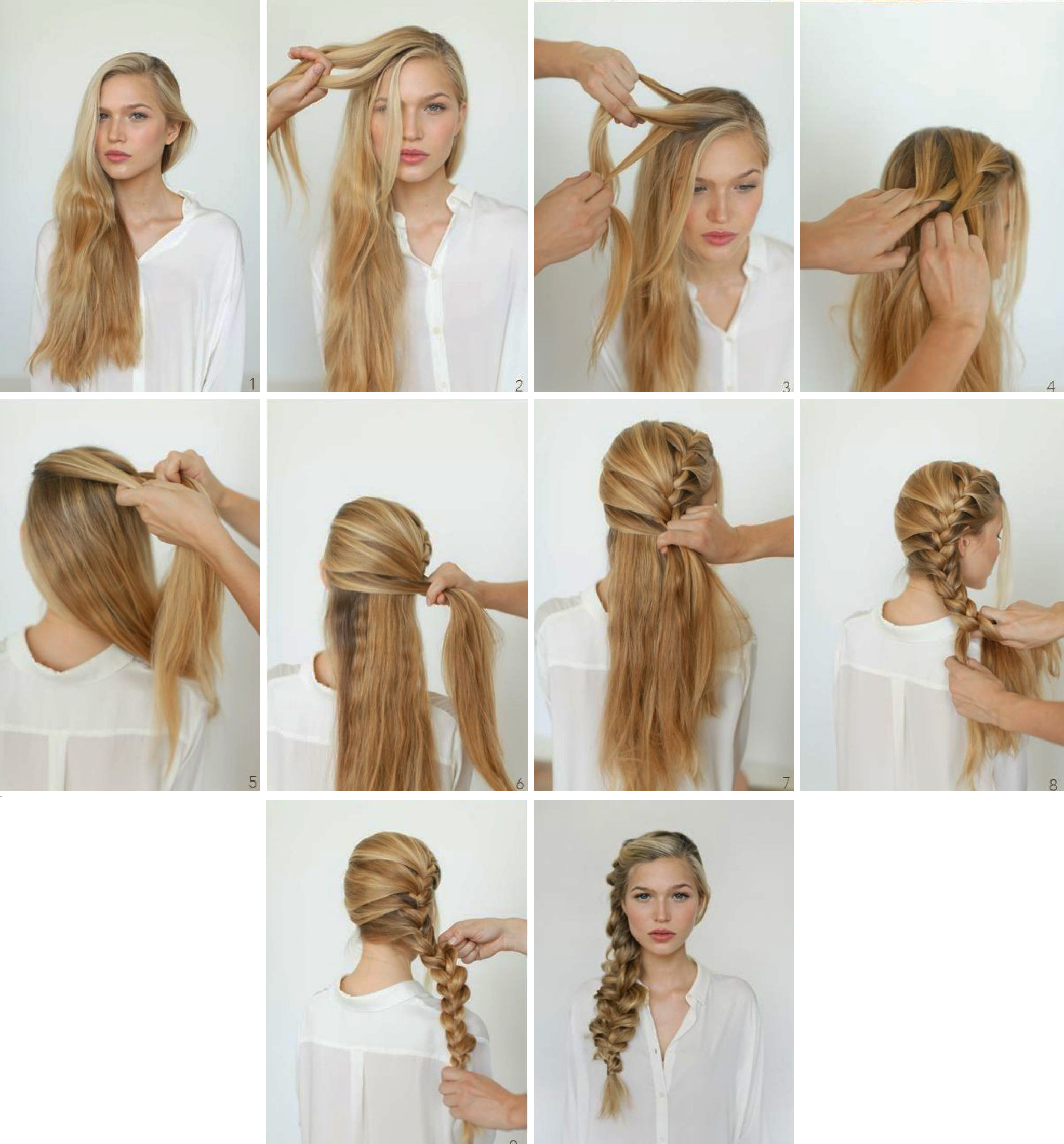 Step By Step Hairstyles: Easy Step By Step Tutorials On How To Do Braided Hairstyle