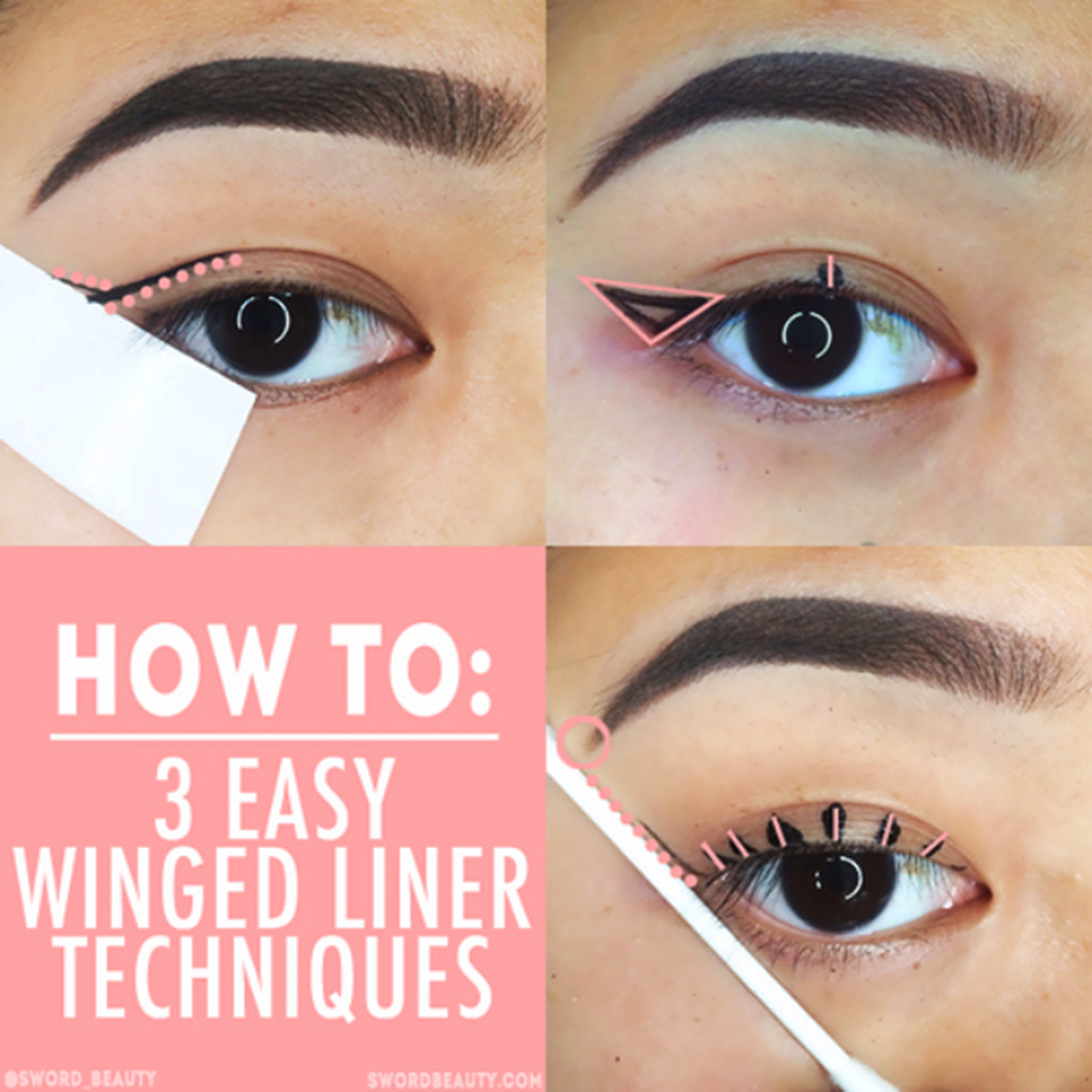 Easy Winged Liner Technique