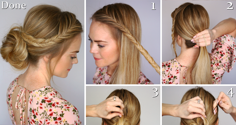Hairstyles For Short Hair Under 5 Minutes: 7 Easy Ways To Create A Braided Bun Hairstyle Under 5 Minutes