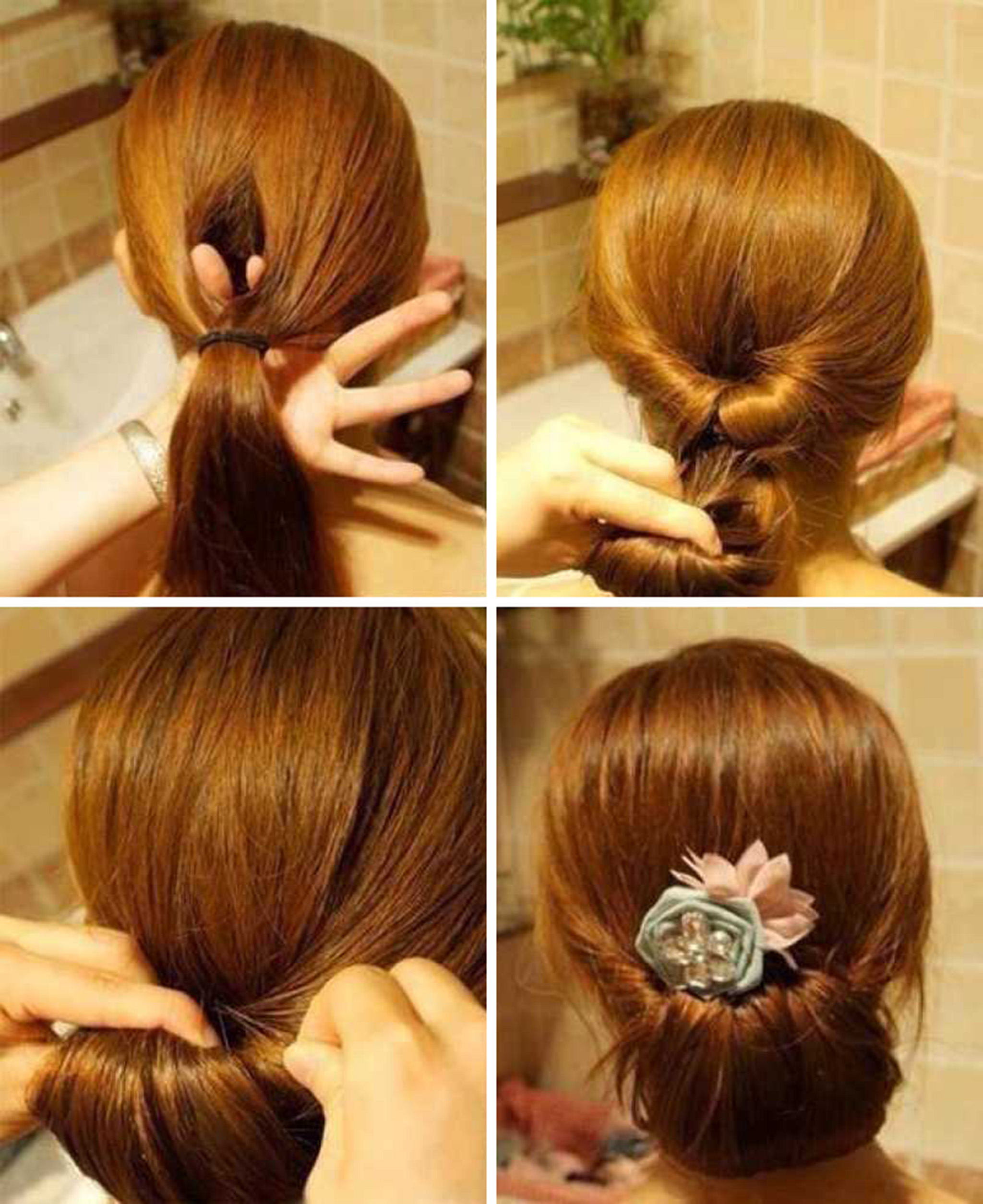 Easy Diy Bun Hairstyles: 10 Glamorous Bun Hairstyles Step By Step