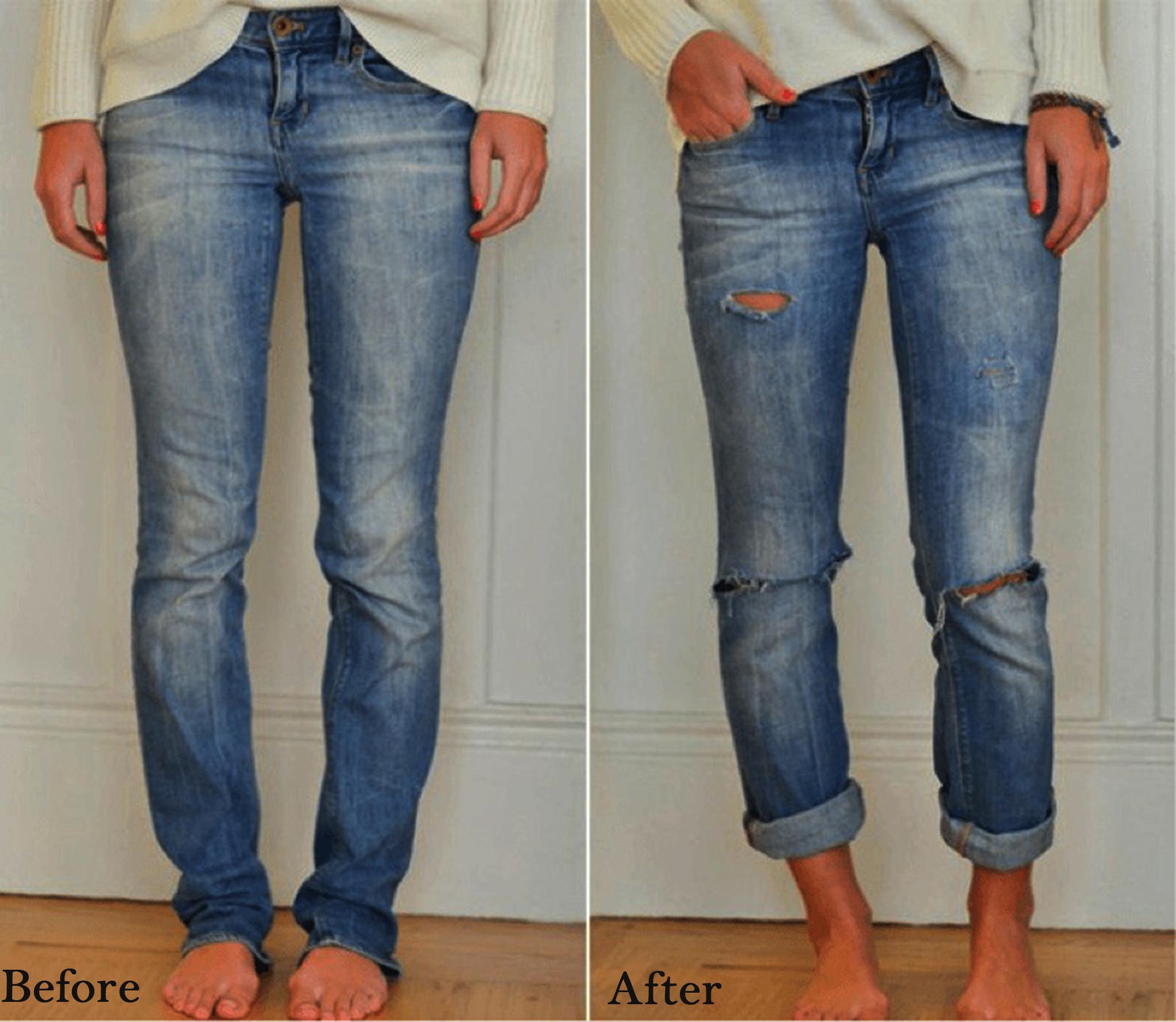 Как из старых джинс сделать модные джинсы своими