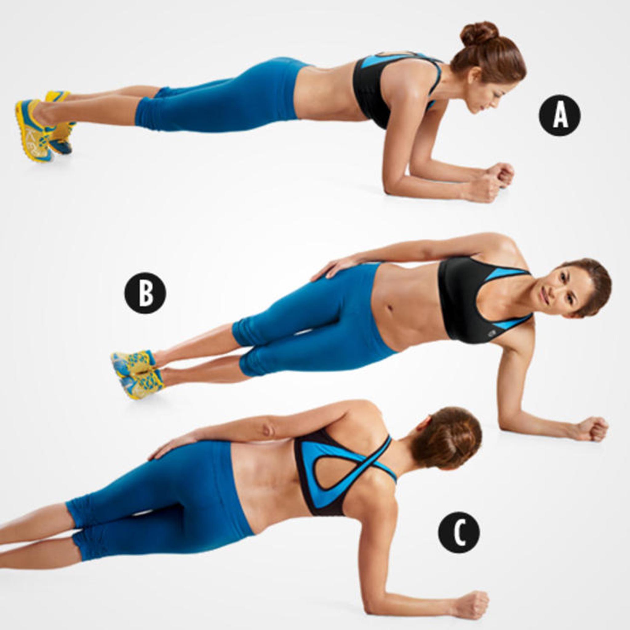 Упражнения для боков и талии в домашних условиях фото