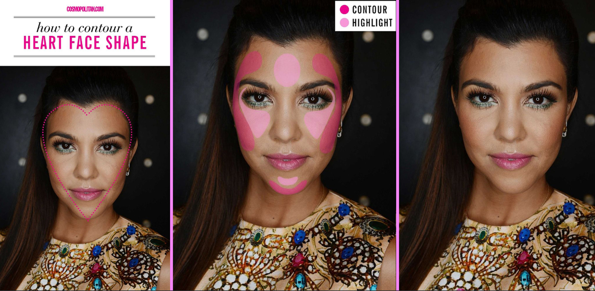 contouring for different face shapes. heart shape face contouring for different shapes c
