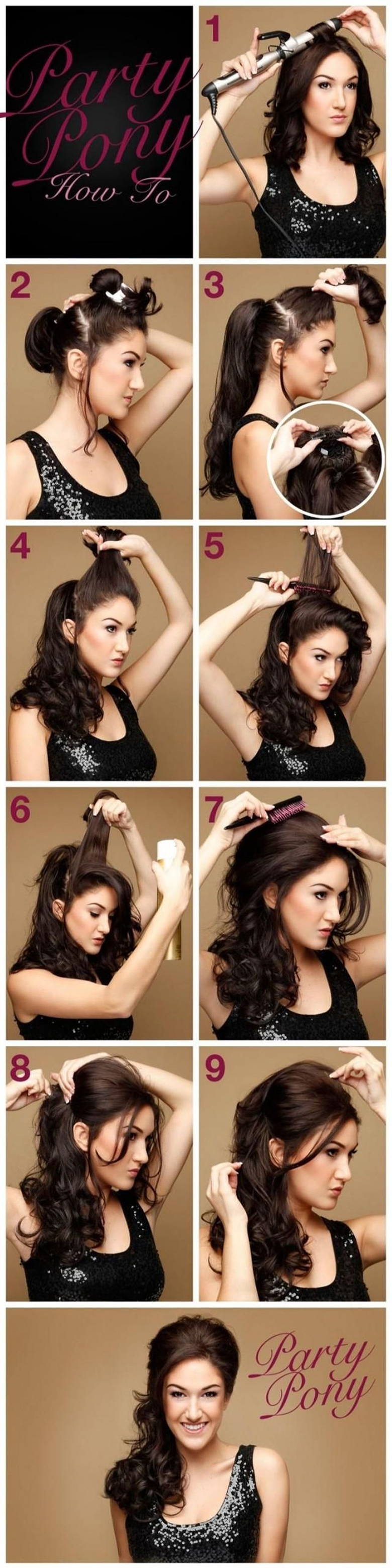 13 easy  quick hairstyles to look elegance in parties