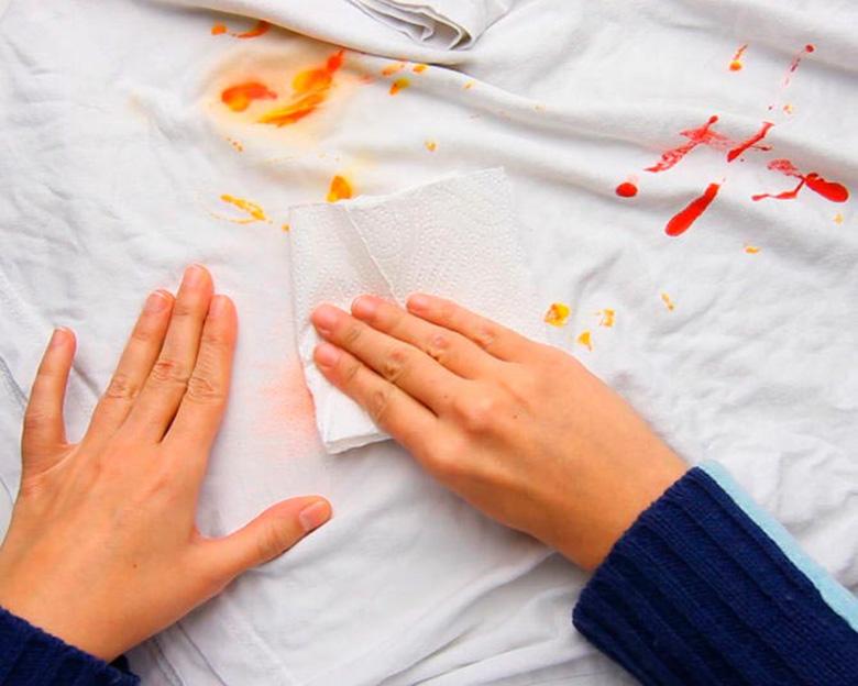 Как вывести пятна от покрасившейся одежды фото